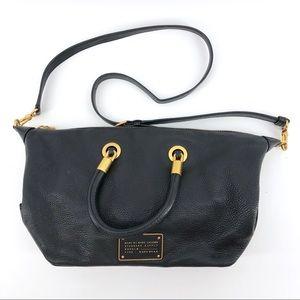 Marc Jacobs Black Leather Shoulder Bag Purse Cross